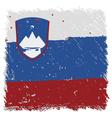 Flag of Slovenia handmade square shape vector image vector image