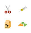 flat icon animal set of nutrition box root vector image vector image