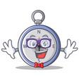 geek compass character cartoon style vector image