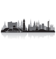 Glasgow city skyline silhouette vector image vector image