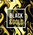 gold jewelry on a black background vector image vector image