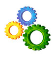 gold modern polygonal triangle gears teamwork vector image vector image