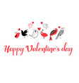 greeting background with love birds vector image