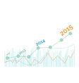 Grow up graph 2015 year vector image vector image