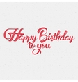 Happy Birthday calligraphy art Background vector image