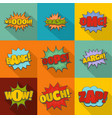hit icons set flat style vector image