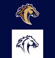 horse head sport logotype vector image