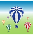 Hot air balloons flying with house vector image vector image