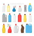 household products bottles vector image