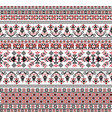 hungarian pixel pattern for cross-stitch vector image