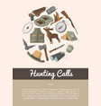hunting shop advertising poster in flat style vector image