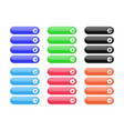 interface buttons set of colored oval icons with vector image vector image