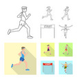 isolated object of sport and winner sign vector image vector image