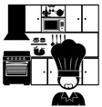 kitchen design vector image