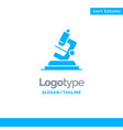 lab microscope science zoom blue business logo vector image vector image