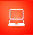 laptop icon computer notebook with empty screen vector image