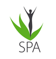 logo silhouette of a girl for spa salon vector image