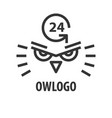 logo template of owl head vector image vector image