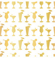 luxury gold foil frosty cocktail glasses seamless vector image