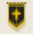 medieval vertical banner with christian cross vector image vector image