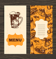 Menu for restaurant cafe bar Oktoberfest vintage vector image vector image