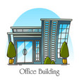 modern office building or skyscraper for job vector image