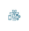 multidimensional business linear icon concept vector image vector image