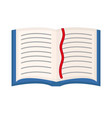 open book textbook icon flat cartoon style vector image
