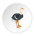 ostrich icon circle vector image vector image