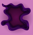 purple abstract background with paper cut shapes vector image