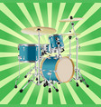 realistic drum kit background vector image