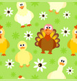 seamless background with funny birds vector image vector image