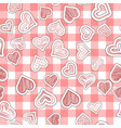 seamless heart pattern on paper texture vector image vector image