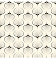 Seamless pattern graphic ornament sea shells vector image vector image