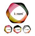 set of geometric shape convergence logo design vector image vector image