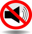 Sign icon ban sound vector image vector image