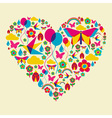 spring time heart vector image