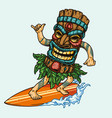 surfing vintage concept vector image vector image