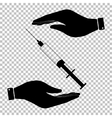 Syringe sign Flat style icon vector image vector image