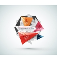Triangle shape modern paper infographics vector image vector image