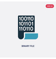 two color binary file icon from programming vector image vector image