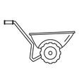 wheelbarrow icon outline style vector image vector image