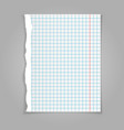 white squared paper sheet background vector image vector image