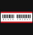 black friday inscription barcode vector image