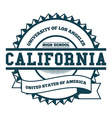 College California Badge and Label Design Element vector image