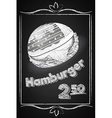 Hamburger Poster on the Chalkboard vector image