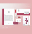 Creative Geometry Pink and Blue Realistic vector image