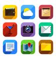 Flat App Icons Set 3 vector image