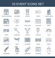 25 event icons vector image vector image