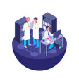 3d isometric laboratory concept vector image